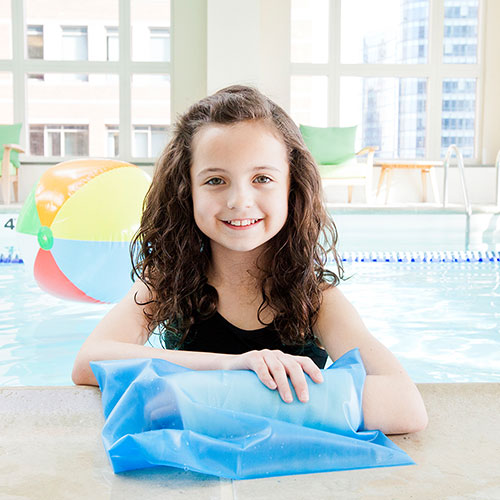 Pediatric cast covers for swimming