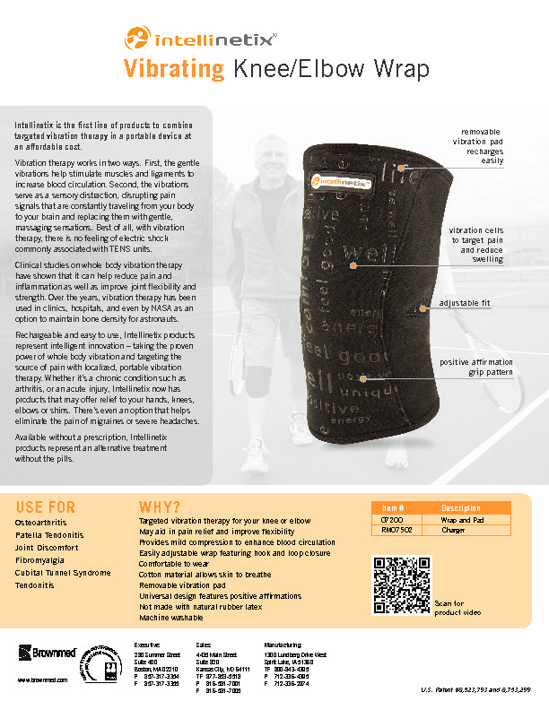 Vibrating Knee And Elbow Wrap Brownmed