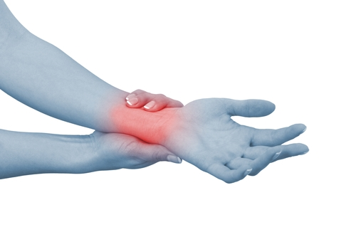 Take frequent breaks at work to alleviate wrist pain.
