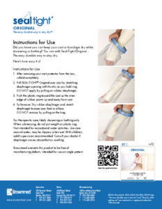 pediatric cast cover for arm and leg