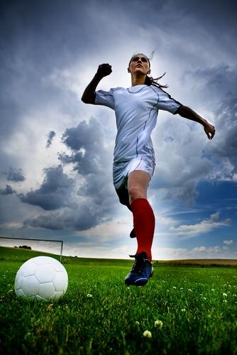 Plantar fasciitis sidelined soccer star Stephanie Catley.