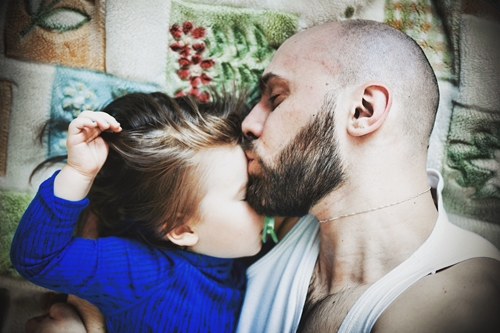 Skin to skin contact is also great for fathers.