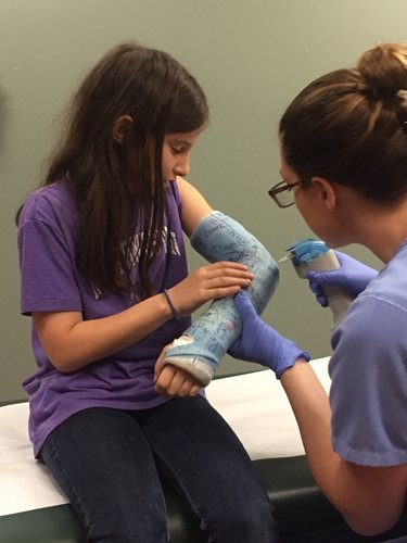 Take care of your child's cast with these tips.