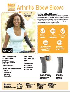 thumbnail of IMAK_Compression_ArthritisElbowSleeve_sellsheet