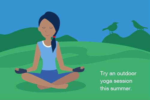 Try an outdoor yoga session this summer.