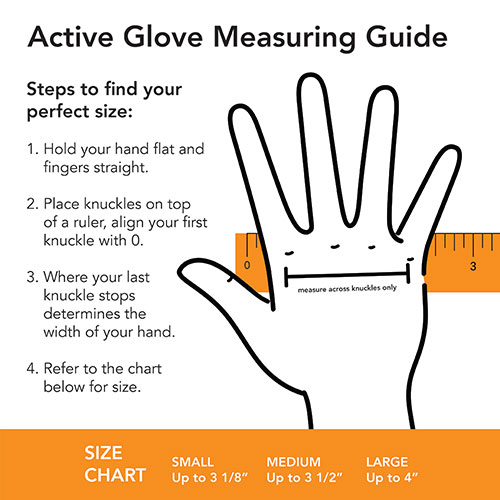 Active Gloves Sizing