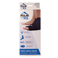 Polar Ice Foot/Ankle Wrap Black Packaging